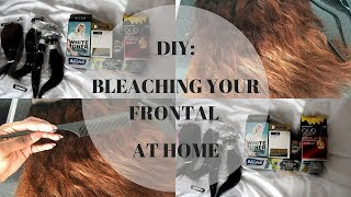 How To DIY: BLEACHING YOUR FRONTAL AT HOME + DARK ROOTS | South African YouTuber | Ubi