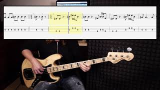 Blue Swede - Hooked On A Feeling (bass cover with tabs in)