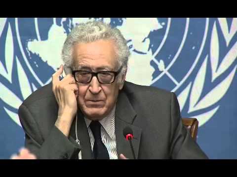 Syrie -  Mr. Lakhdar Brahimi \\ La Conférence de presse à Genève,    24\01\2014