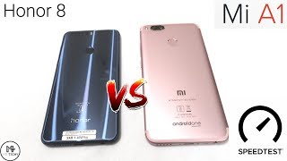 Honor 8 VS Xiaomi Mi A1 - Speedtest & Comparison (In Hindi)