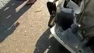 Met an accident at Vadodara - Ahemdabad Expressway.