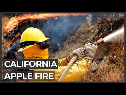 Massive California wildfires