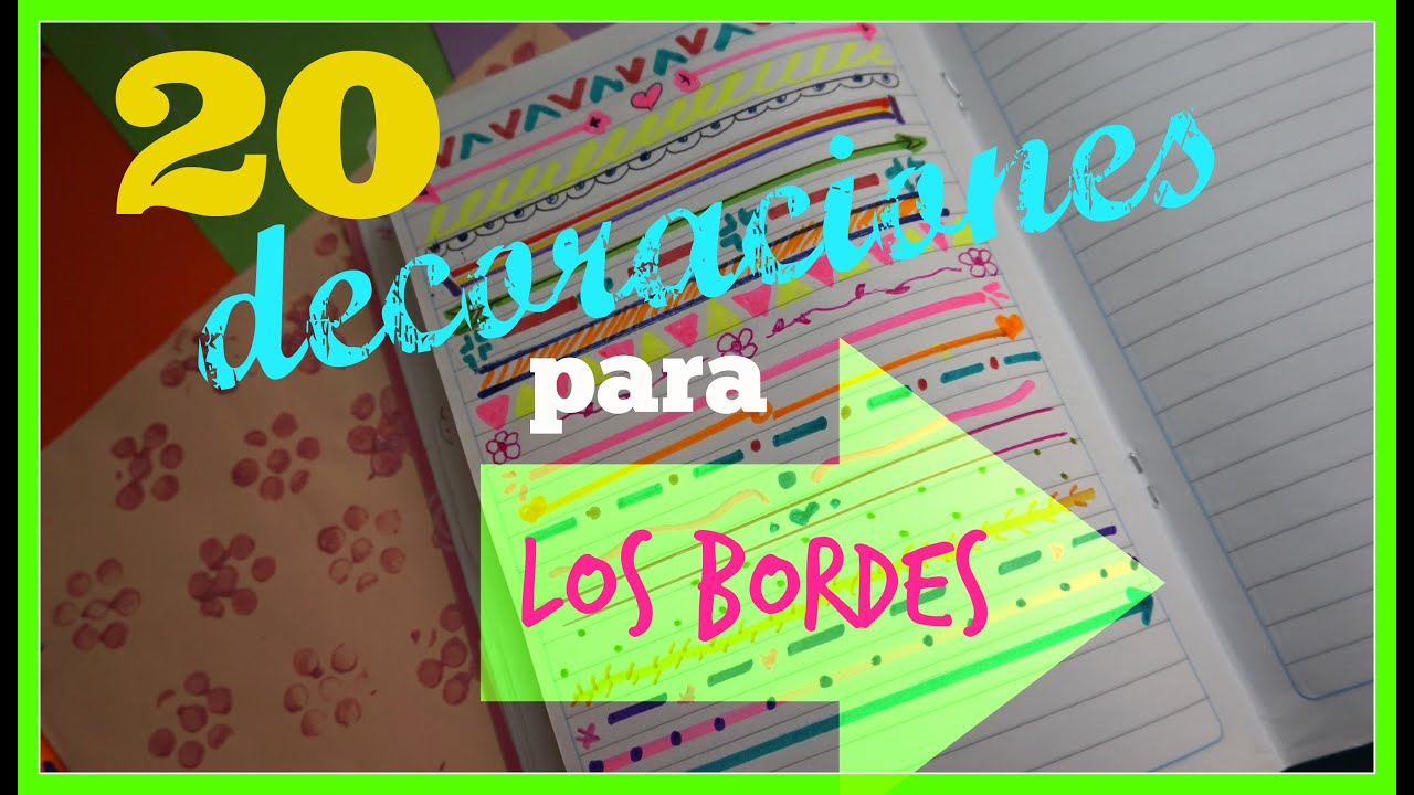 20 decoraciones para tu cuaderno craftlove youtube - Decoraciones para la pared ...