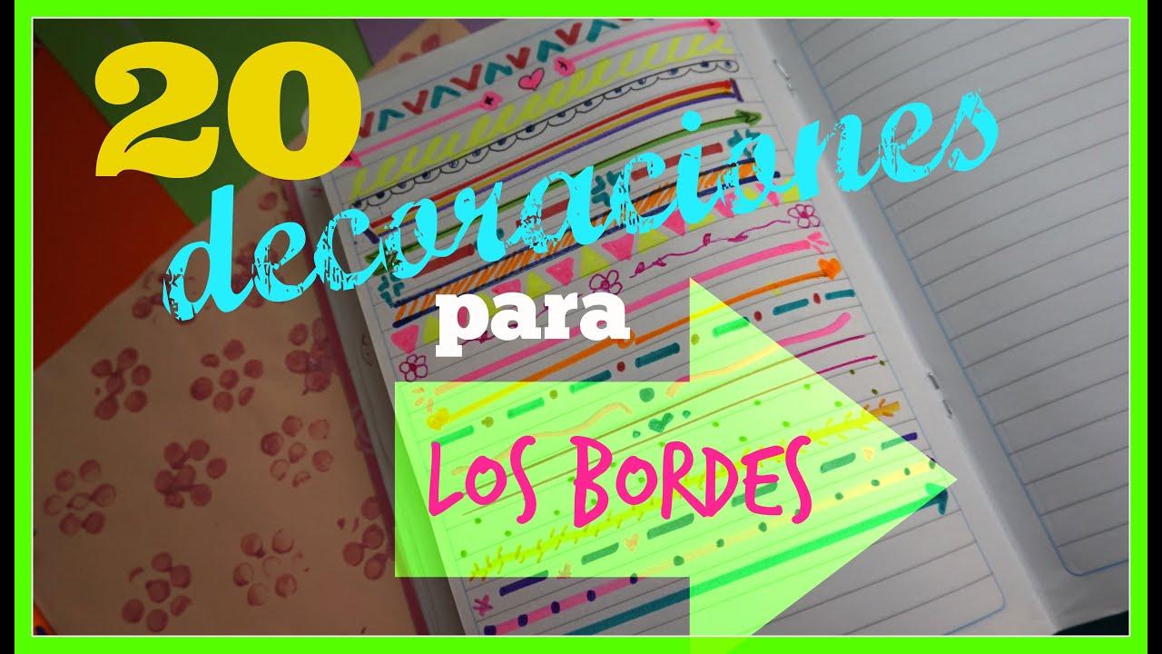 20 decoraciones para tu cuaderno craftlove youtube for Decoraciones para hojas