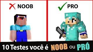 10 Testes de Minecraft, Você é um Noob ou Pró?