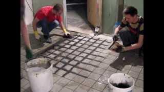 Реальная работа с эпоксидной затиркой Mapei(Видеоролик Mapei о том, как работать с эпоксидной затиркой Kerapoxy, конечно, красив. В ролике затирается 1 кв.м..., 2013-07-29T20:02:12.000Z)
