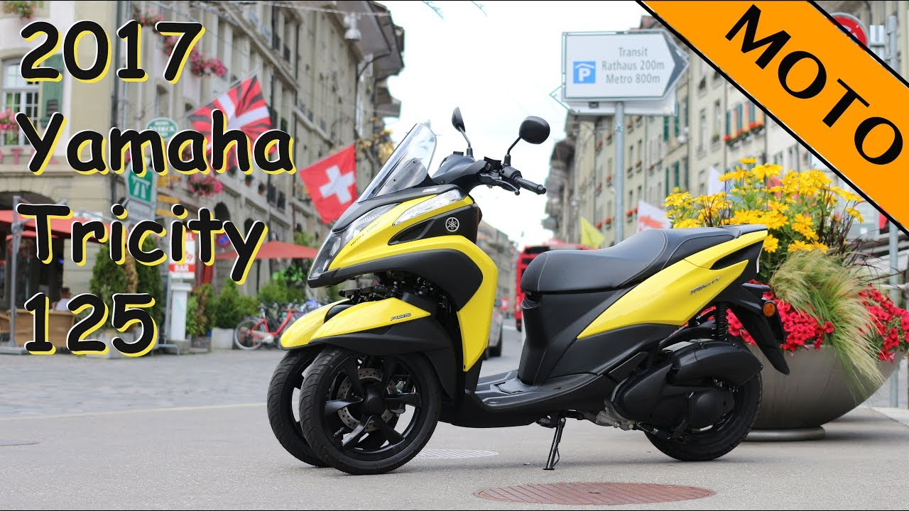 2017 yamaha tricity 125 scooter test de youtube. Black Bedroom Furniture Sets. Home Design Ideas