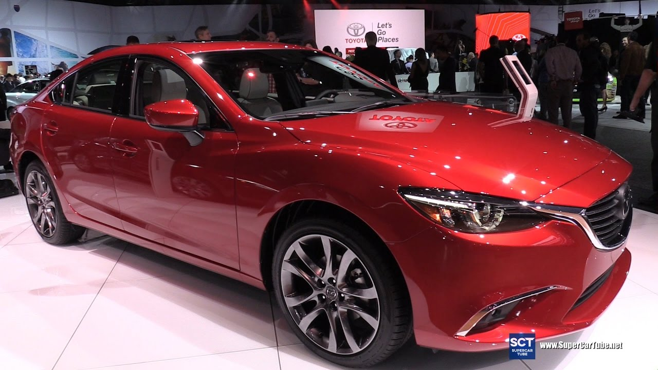 2017 mazda6 grand touring skyactiv tech exterior and interior walkaround 2016 la auto show. Black Bedroom Furniture Sets. Home Design Ideas