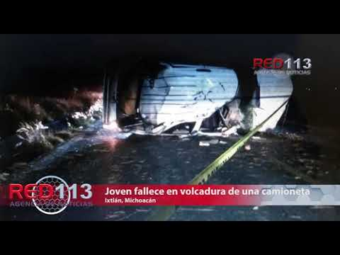 VIDEO Joven fallece en volcadura de una camioneta en la carretera Zamora-La Barca