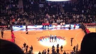 BAILEN - National Anthem at Madison Square Garden - Knicks vs. Magic