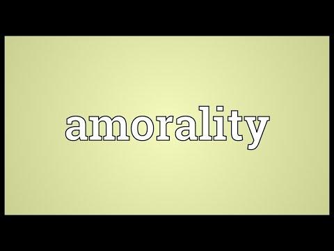 Header of amorality