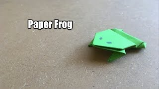 How to Make a Jumping Paper Frog   Origami Tutorial