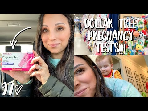BUYING PREGNANCY TESTS AT THE DOLLAR TREE!! // WEEKLY 97