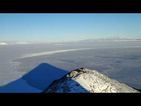 Looking off Observation Hill, McMurdo Station Antarctica.