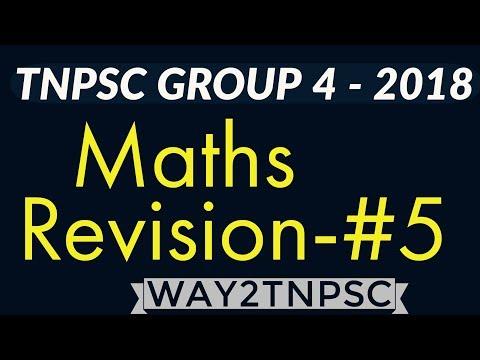 TNPSC CCSE 4 2018   Maths Revision  5