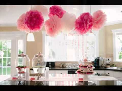 Easy diy ideas for bridal shower favor decorations youtube for How to decorate for a bridal shower at home
