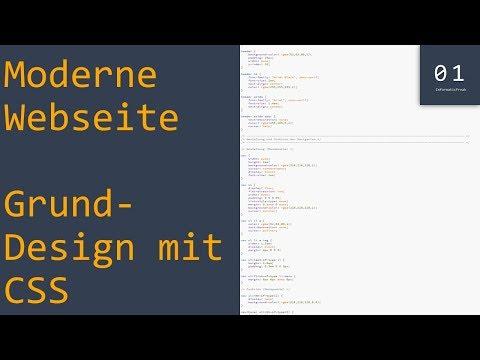 CSS Grund-Design Erstellen | Moderne Website #5