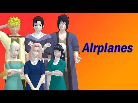 [MMD Naruto]Sai, Sakura, Sasuke, Hinata, Naruto U0026 Ino - Airplanes (Motion Dl)