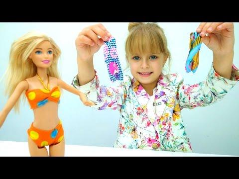 Мультики для девочек. #Барби заказывает платья в Интернете! Игры одевалки