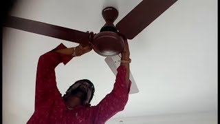 How to install new fan fitting | Ceiling Fan installation & ceiling fan connection