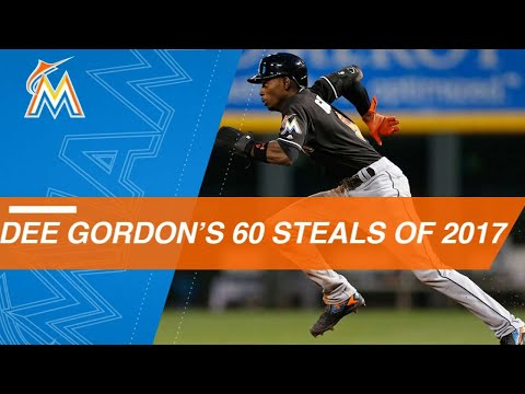 Watch All 60 Of Dee Gordon's Stolen Bases In 2017