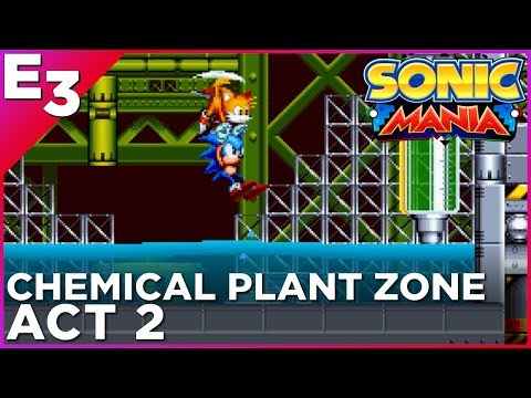 SONIC MANIA: Chemical Plant Zone, Act 2 GAMEPLAY — Polygon @ E3 2017