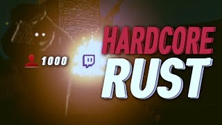 The HARDEST Way To Play RUST - SOLO With 1000 People Watching