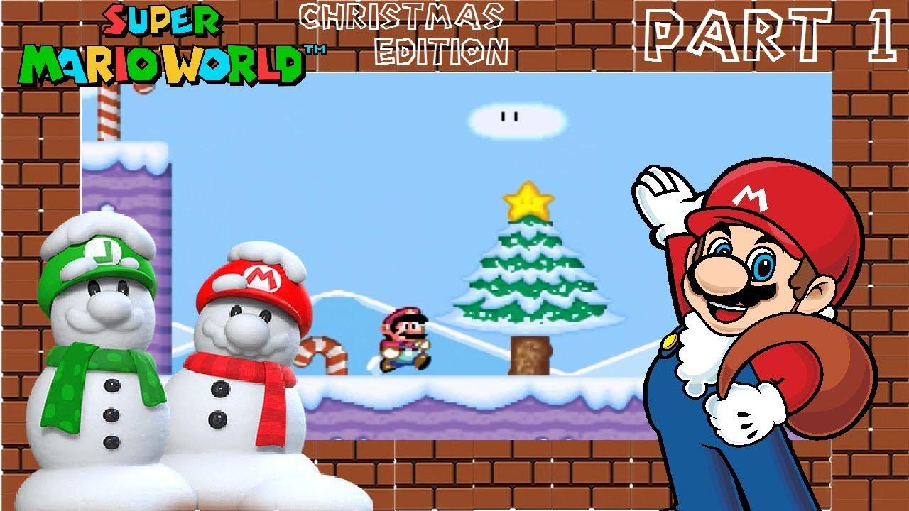 Super Mario World Christmas.Snow Super Mario World Christmas Edition Part 1