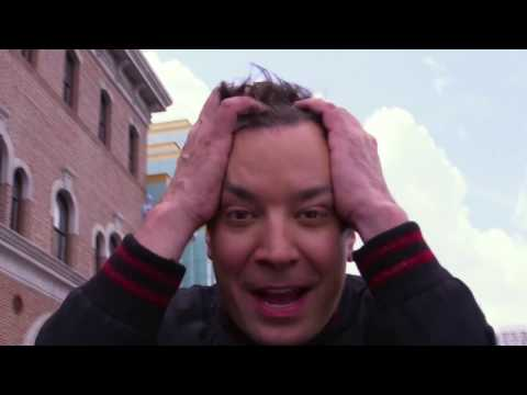 Jimmy Fallon Reacts to His New Ride at Universal Orlando Resort