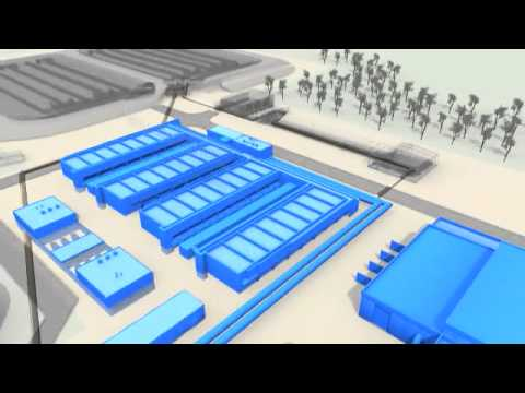 3d Animation Of Tertiary Sewage Treatment Process At The