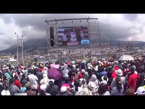 Últimos minutos de la misa del Papa Francisco en Quito (HD)
