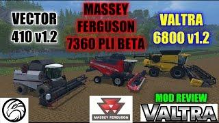 Farming Simulator 15 - Triple combine/Harvester Showcase