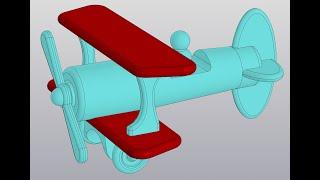 Видеоуроки Компас 3D V18. Сборка самолетика. 1 Крылья