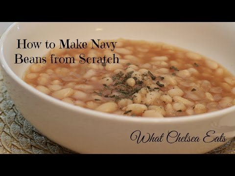 How to Make Navy Beans   Vegan Recipe By: What Chelsea Eats