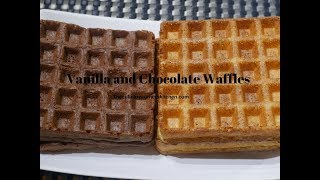 Vanilla & Chocolate  waffles