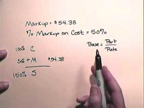 markup on cost www atcmathprof com youtube