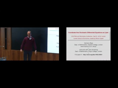 Damiano Brigo - Coordinate-free Stochastic Differential Equations as 2-Jets