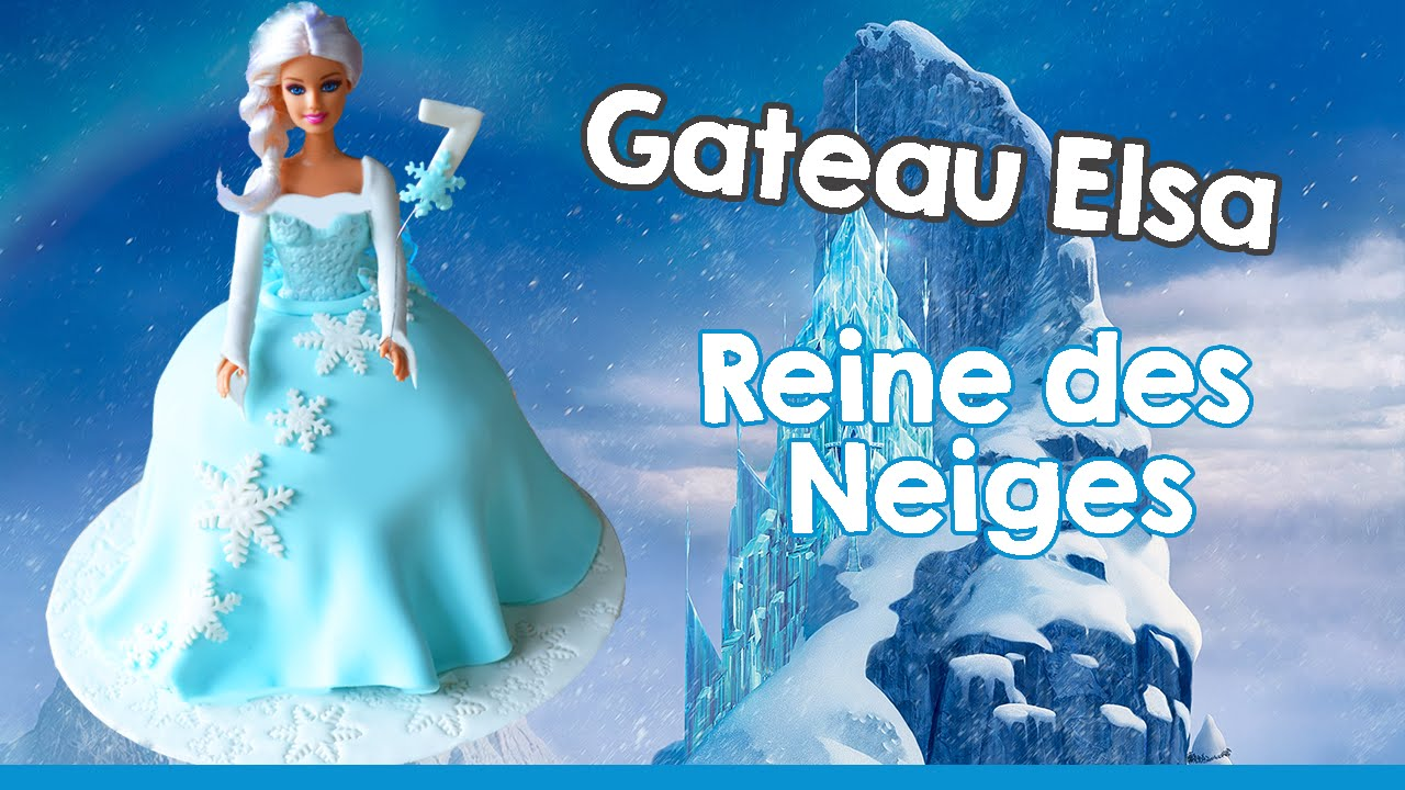 G teau elsa reine des neiges i cake design elsa doll cake youtube - Princesse des neige ...