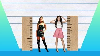We compare ariana grande and camila cabello in height, visually with data, reveal just how much the difference is between two pop-stars!