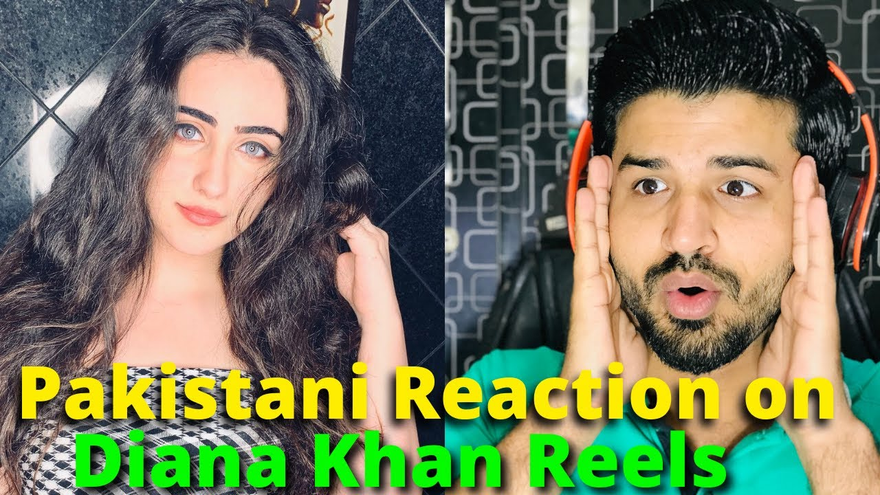 Pakistani React on Diana Khan Instagram REELS VIDEOS | Indian Actress |  Reaction Vlogger