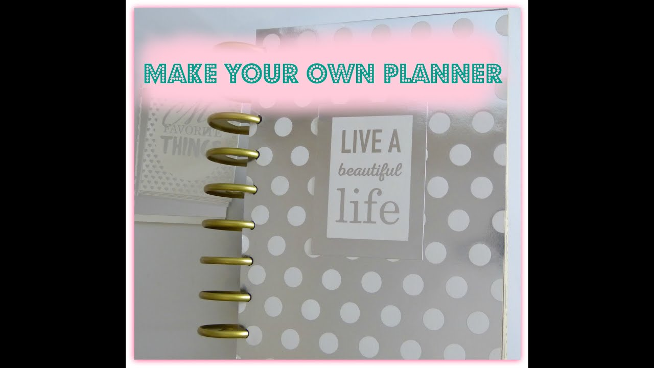 DIY:How To:Tutorial:Make Your Own Planner!! By SaCrafters Nice Ideas