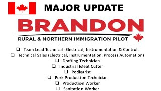 Major Update- Rural and Northern Immigration Pilot Brandon