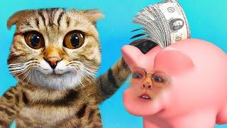 Кот и Катина копилка