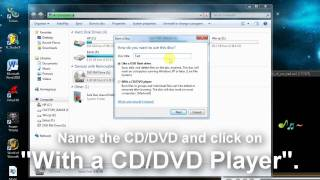 How to burn a CD/DVD on Windows 7 without any programs!