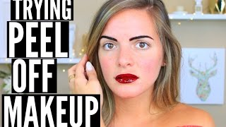 TRYING PEEL OFF MAKEUP | TEST IT OUT THURSDAY | Casey Holmes