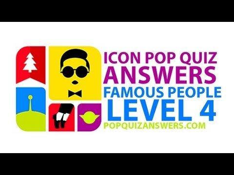 Icon Pop Quiz Answers (Famous People) Level 4 Answers for iPhone, iPad, Android