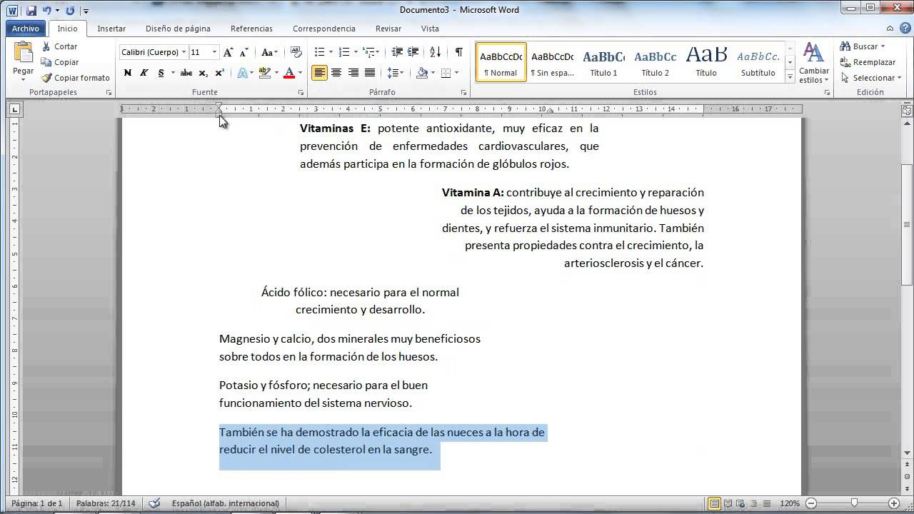 Tama o y formato de p rrafo en word youtube for En word cual es el interlineado