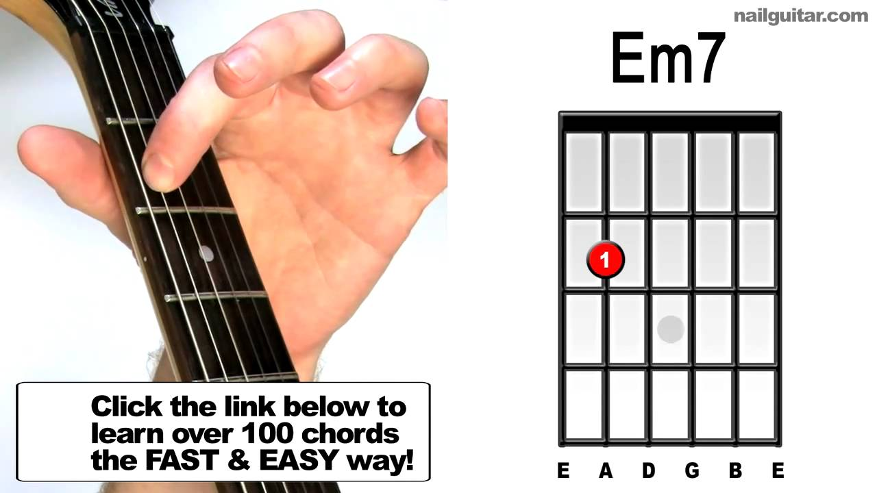 Em7 Beginner Guitar Youtube