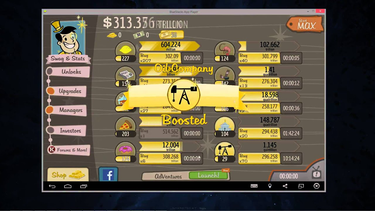 Adventure Capitalist Android Hack Infinite Gold Bars