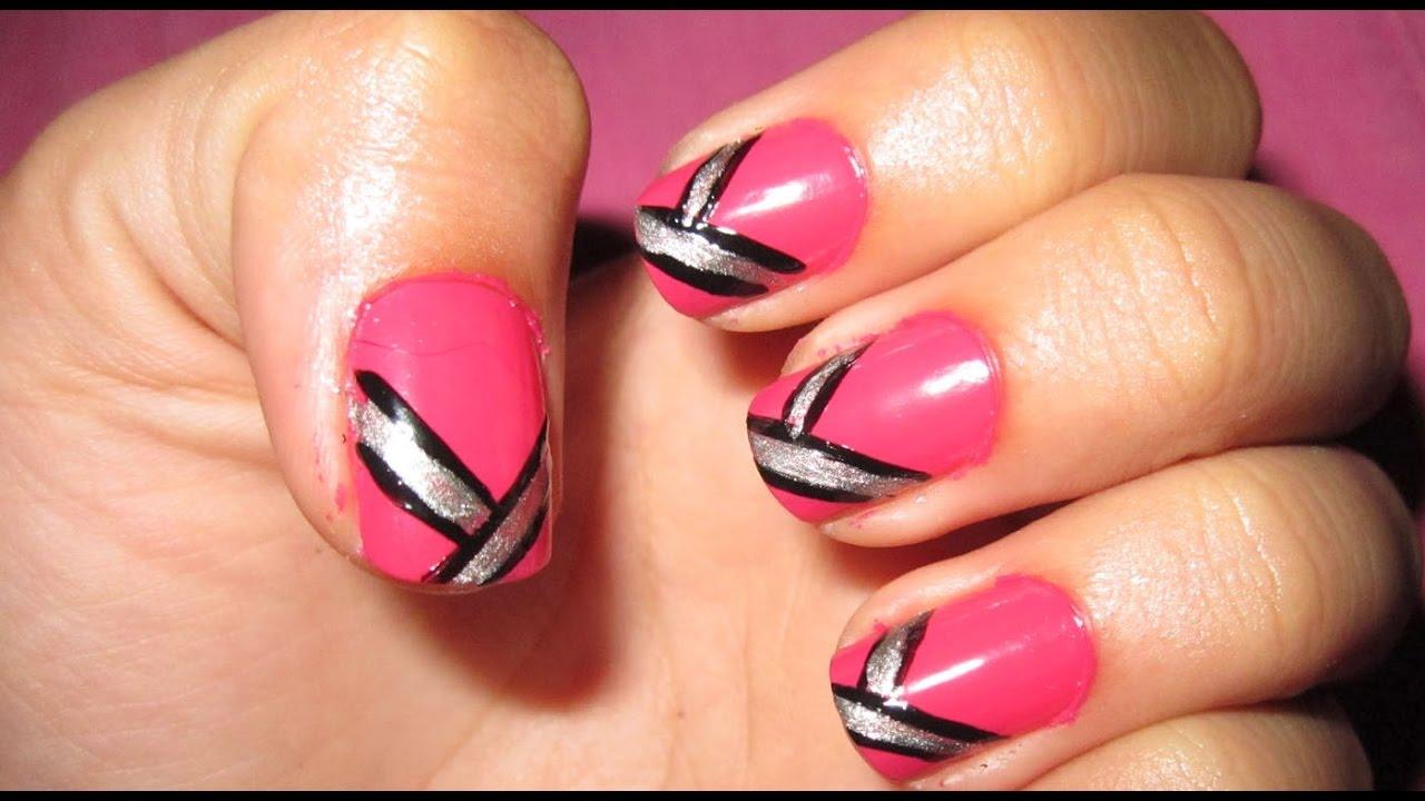 Easy Simple Beautiful Nail Art Designs For Karwa Chauthdiwali